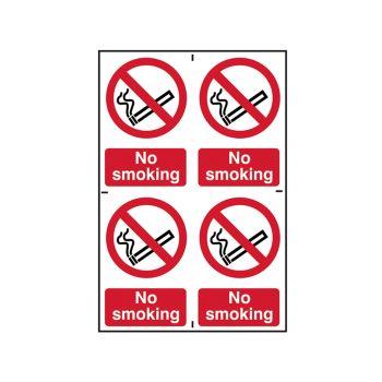 Scan No Smoking - PVC 200 x 300mm (4x 100 x 150mm) - SCA0552