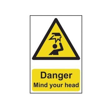 Scan Danger Mind Your Head - PVC 200 x 300mm - SCA1150