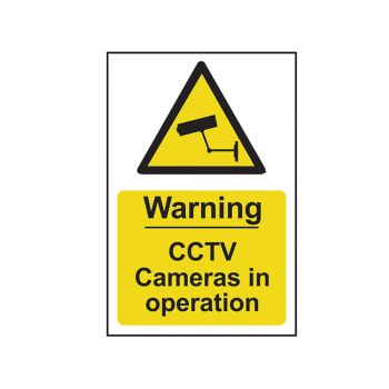 Scan Warning CCTV Cameras In Operation - PVC 200 x 300mm - SCA1311