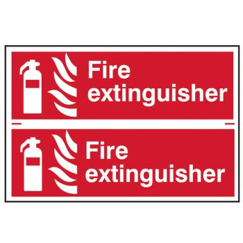 Scan Fire Extinguisher - PVC 300 x 200mm - SCA1351