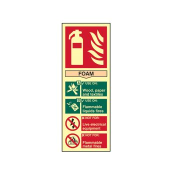 Scan Fire Extinguisher Composite Foam - Photoluminescent 75 x 200mm - SCA1591