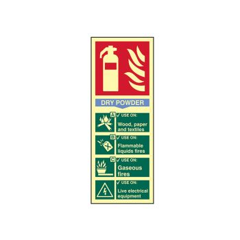 Scan Fire Extinguisher Composite - Dry Powder - Photoluminescent 75 x 200mm - SCA1593