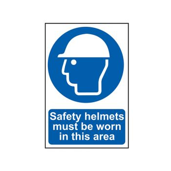 Scan Safety Helmets Must Be Worn In This Area - PVC 400 x 600mm - SCA4000