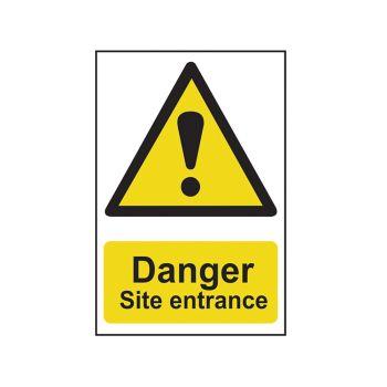 Scan Danger Site Entrance - PVC 400 x 600mm - SCA4102