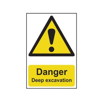 Scan Danger Deep Excavation - PVC 400 x 600mm - SCA4103
