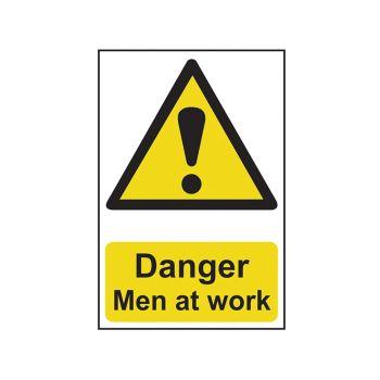 Scan Danger Men At Work - PVC 400 x 600mm - SCA4104