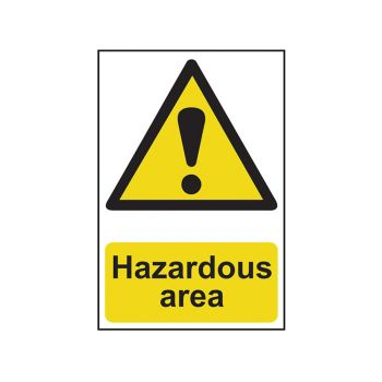 Scan Hazardous Area - PVC 400 x 600mm - SCA4107