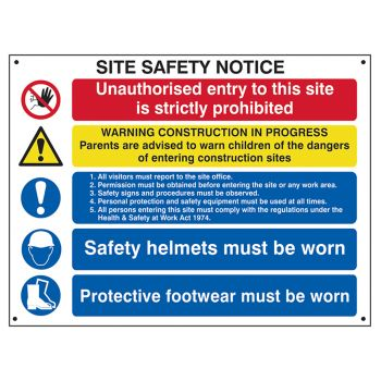 Scan Composite Site Safety Notice - FMX 800 x 600mm - SCA4550