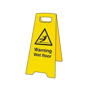Scan Warning Wet Floor Heavy-Duty A Board - SCA4702