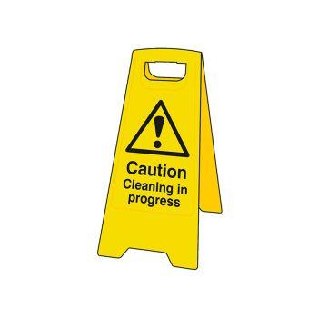 Scan Caution Cleaning In Progress Heavy-Duty A Board - SCA4703