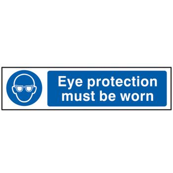 Scan Eye Protection Must Be Worn - PVC 200 x 50mm - SCA5001