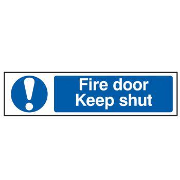 Scan Fire Door Keep Shut - PVC 200 x 50mm - SCA5004
