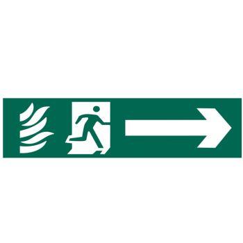 Scan Running Man Arrow Right - PVC 200 x 50mm - SCA5200
