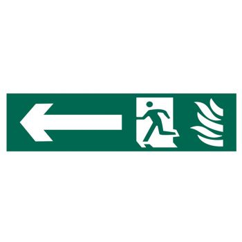 Scan Running Man Arrow Left - PVC 200 x 50mm - SCA5201