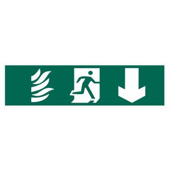 Scan Running Man Arrow Down - PVC 200 x 50mm - SCA5203