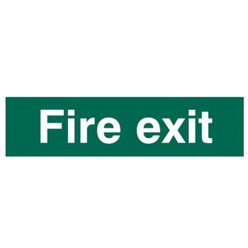 Scan Fire Exit Text Only - PVC 200 x 50mm - SCA5204