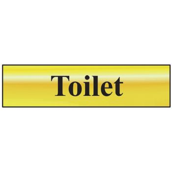 Scan Toilet - Polished Brass Effect 200 x 50mm - SCA6051