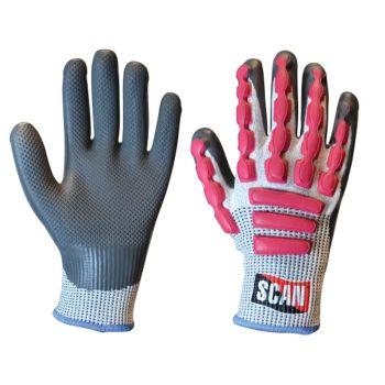 Scan Anti-Impact Latex Cut 5 Gloves - L (Size 9)