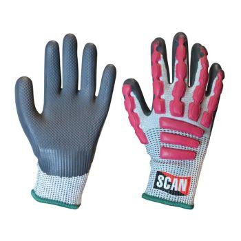 Scan Anti-Impact Latex Cut 5 Gloves - M (Size 8)