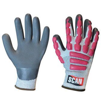 Scan Anti-Impact Latex Cut 5 Gloves - XL (Size 10)