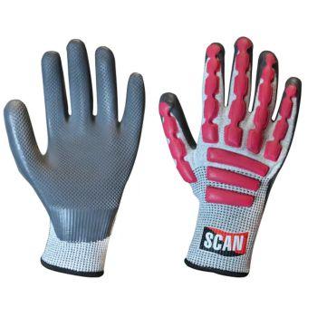 Scan Anti-Impact Latex Cut 5 Gloves - XXL (Size 11)
