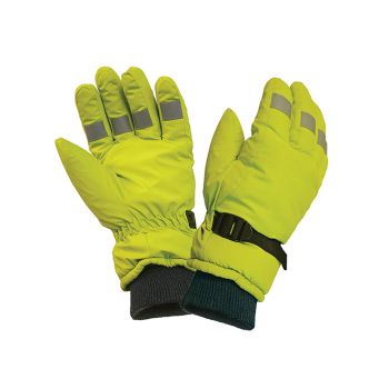 Scan Hi-Visibility Gloves, Yellow - Large - SCAGLOHVISL