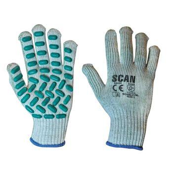 Scan Vibration Resistant Latex Foam Gloves - L (Size 9)