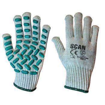 Scan Vibration Resistant Latex Foam Gloves - M (Size 8)