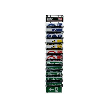 Scan Signs Display - 60 Signs (12 Tier Stand) - SCASSDIS60