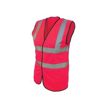 Scan Hi-Vis Waistcoat Pink - M (41in) - SCAWWHVWMP