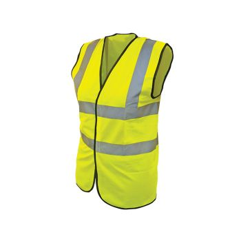 Scan Hi-Vis Waistcoat Yellow - XXXL (56in) - SCAWWHVWXXXL