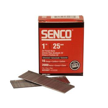 Senco Straight Brad Nails Galvanised 16G x 25mm Pack of 2,000 - SENRX13EAA