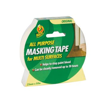 Shurtape Duck Tape All Purpose Masking Tape 25mm x 50m - SHU232148