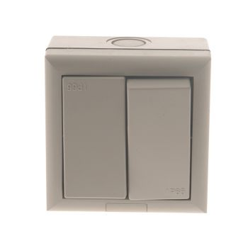 SMJ IP66 2 Way Switch 1 Gang - SMJE62G2B