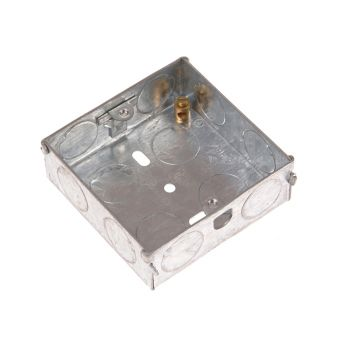 SMJ Metal Box 1 Gang 25mm Depth - Loose - SMJMBB25S