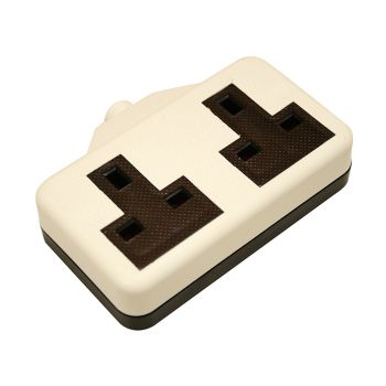SMJ White Extension Socket 13A 2 Gang - SMJRTS2GW