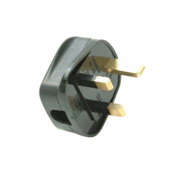 SMJ Black Plug 13A Fused (Trade Pack of 20) - SMJTB13FP