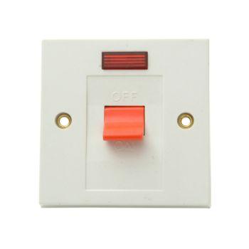 SMJ Flush DP Switch & Neon 30A - SMJW30SNC