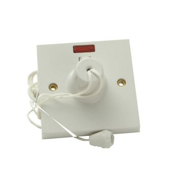 SMJ Ceiling Switch & Neon 45A Double Pole - SMJW45CSC