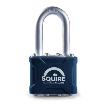 """Squire 35/1.5 - Stronglock Pin Tumbler 40mm Laminated Double Locking Padlock - Long Shackle 1.5"""""""
