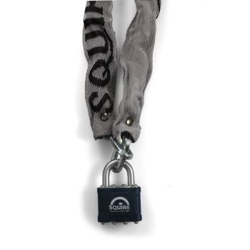 Squire 3536 - 35 Padlock & 900mm Hardened steel Chain - Open Shackle