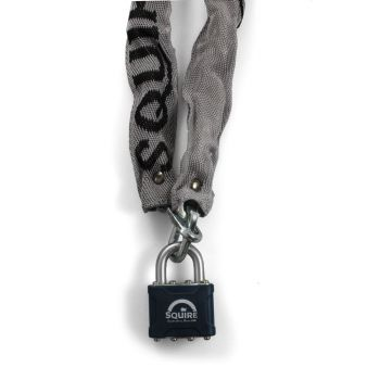 Squire 3936MK - 39 Padlock & 915mm X3 Hardened square link Chain  - Open Shackle - Master Keyed