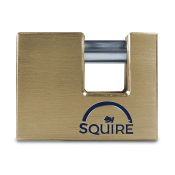 Squire ASWL2 - Warehouse Lock Range - Large 80mm Armoured Brass Block Padlock