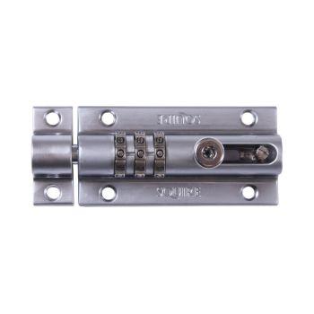 Squire COMBI3 CH - Combination Locking Bolt - Chrome Finish - 3 Wheel