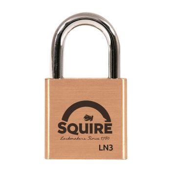 Squire LN3 - Lion Range - 30mm Premium Solid Brass Double Locking Padlock - Open Shackle
