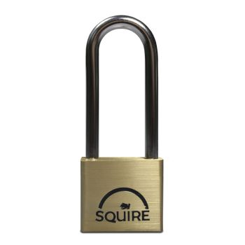 Squire LN4/2.5 - Lion Range - 40mm Premium Solid Brass Double Locking Padlock - Long Shackle 2.5""