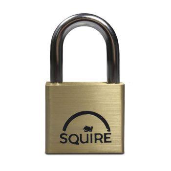 Squire LN4 - Lion Range - 40mm Premium Solid Brass Double Locking Padlock - Open Shackle