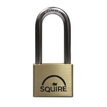Squire LN5/2.5 - Lion Range - 50mm Premium Solid Brass Double Locking Padlock - Long Shackle 2.5""