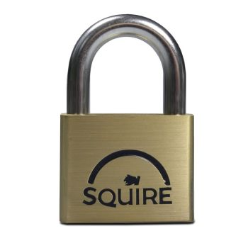 Squire LN5KA - Lion Range - 50mm Premium Solid Brass Double Locking Padlock - Open Shackle - Keyed Alike