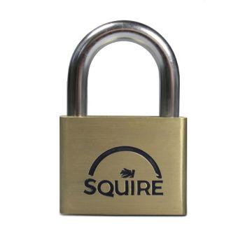 Squire LN60 - Lion Range - 60mm Premium Solid Brass Double Locking Padlock - Open Shackle
